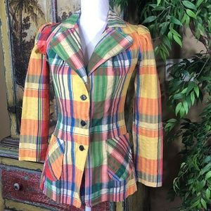 Young Timers Colorful Vintage Retro Blazer Size Sm